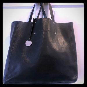 Pulicati Saffiano Black Italian leather Tote